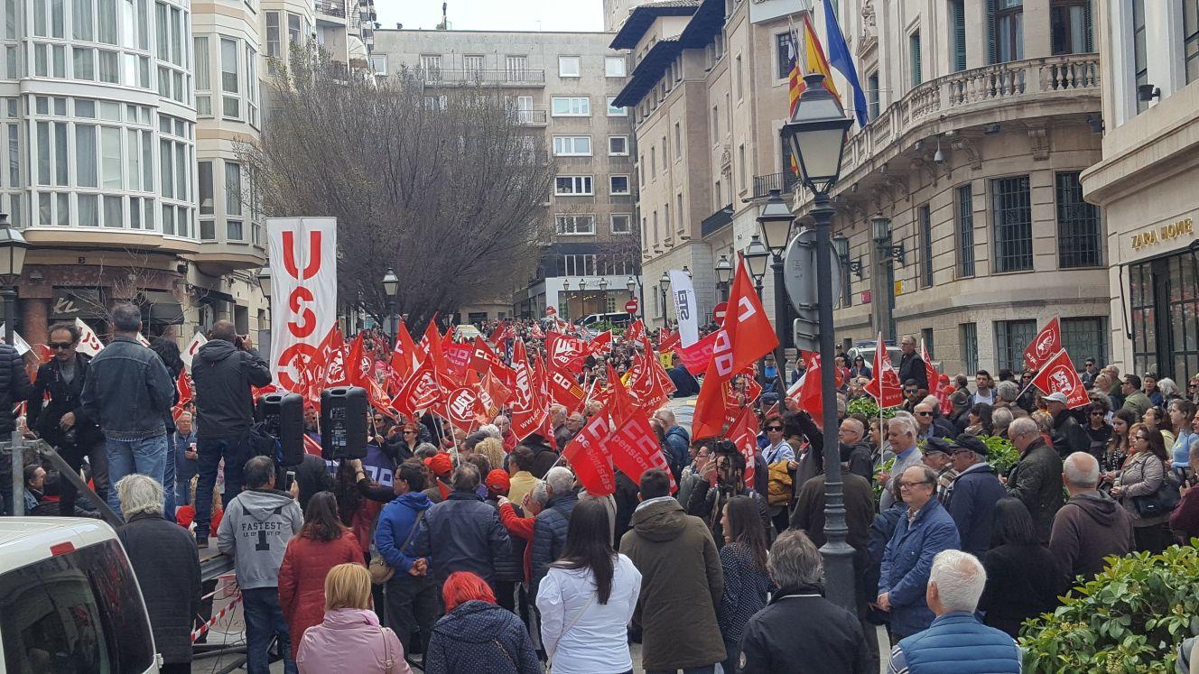 Manifestación por unas pensiones dignas en Palma de Mallorca