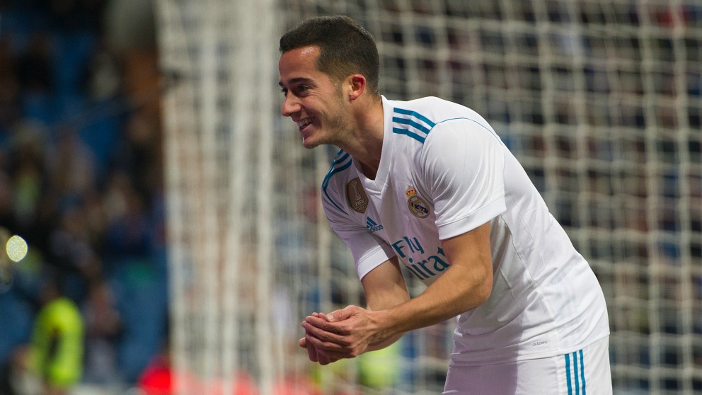 Lucas celebra un gol con el Real Madrid. (Getty)