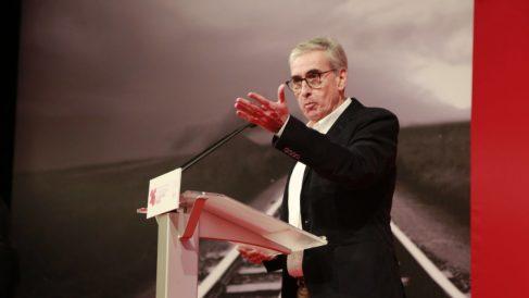 Ramón Jáuregui durante el acto del 25º aniversario de la convergencia del PSE-EE. Foto: @RjaureguiA