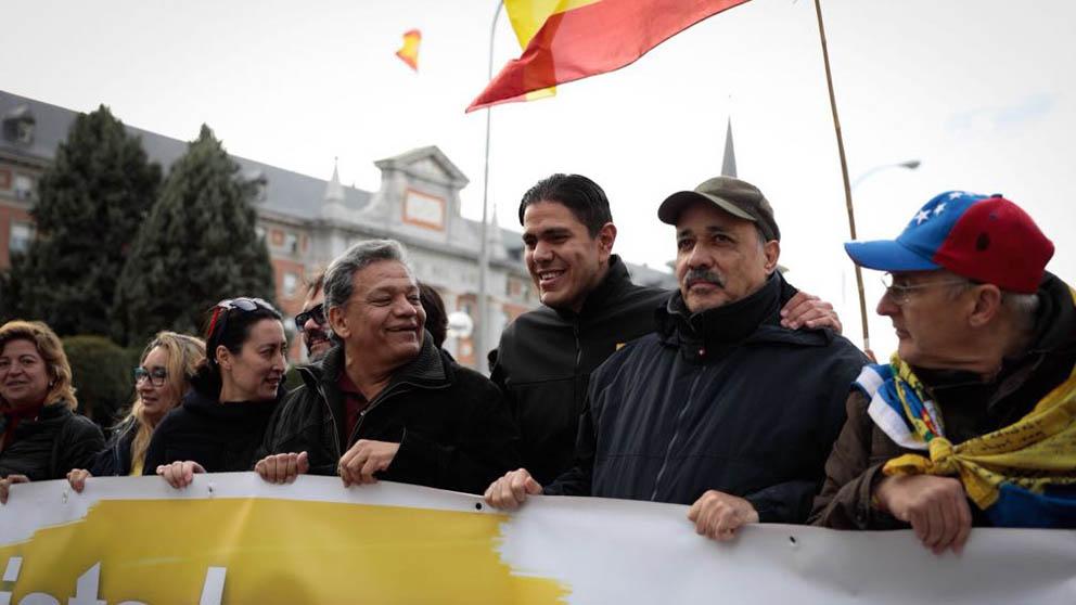 El portavoz del Frente Amplio Venezuela Libre, Lester Toledo, comandó la manifestación contra la dictadura de Maduro