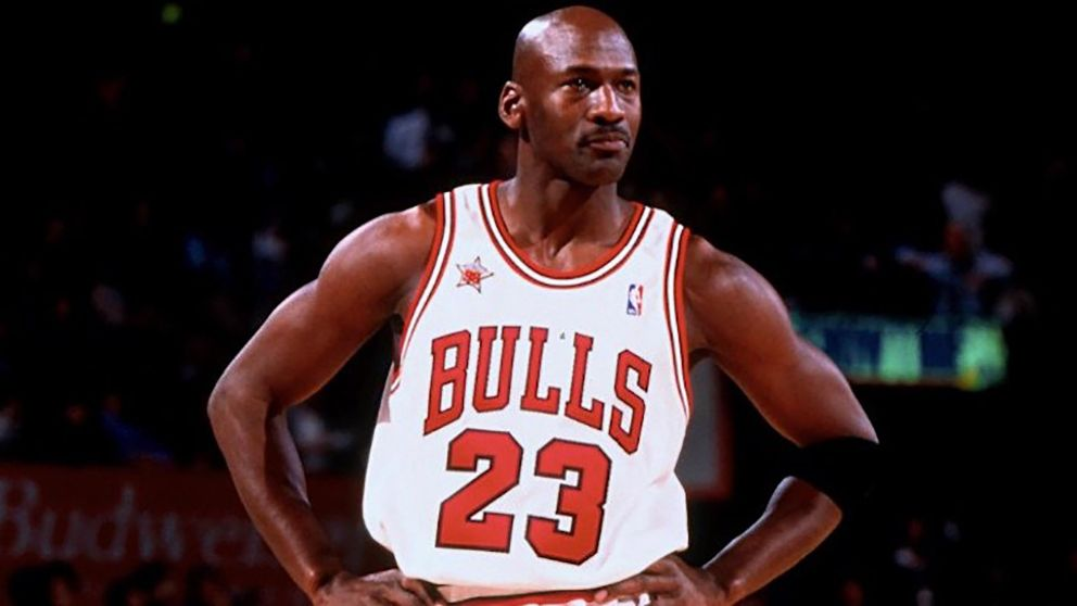Michael Jordan, en un partido de los Bulls.