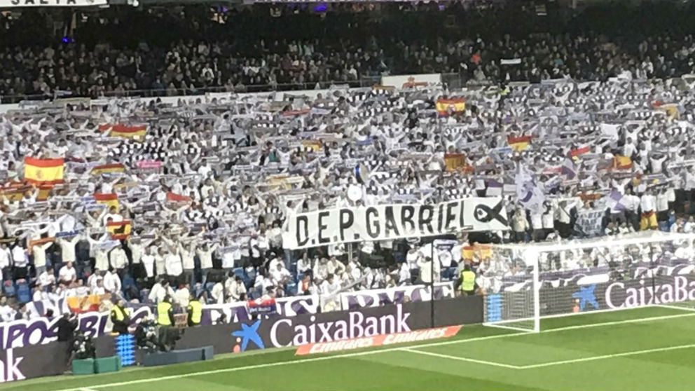 El Bernabéu homenajeó a Gabriel.