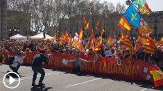 Un momento de la manifestación de este domingo en Barcelona (Foto: Manolo Riera).
