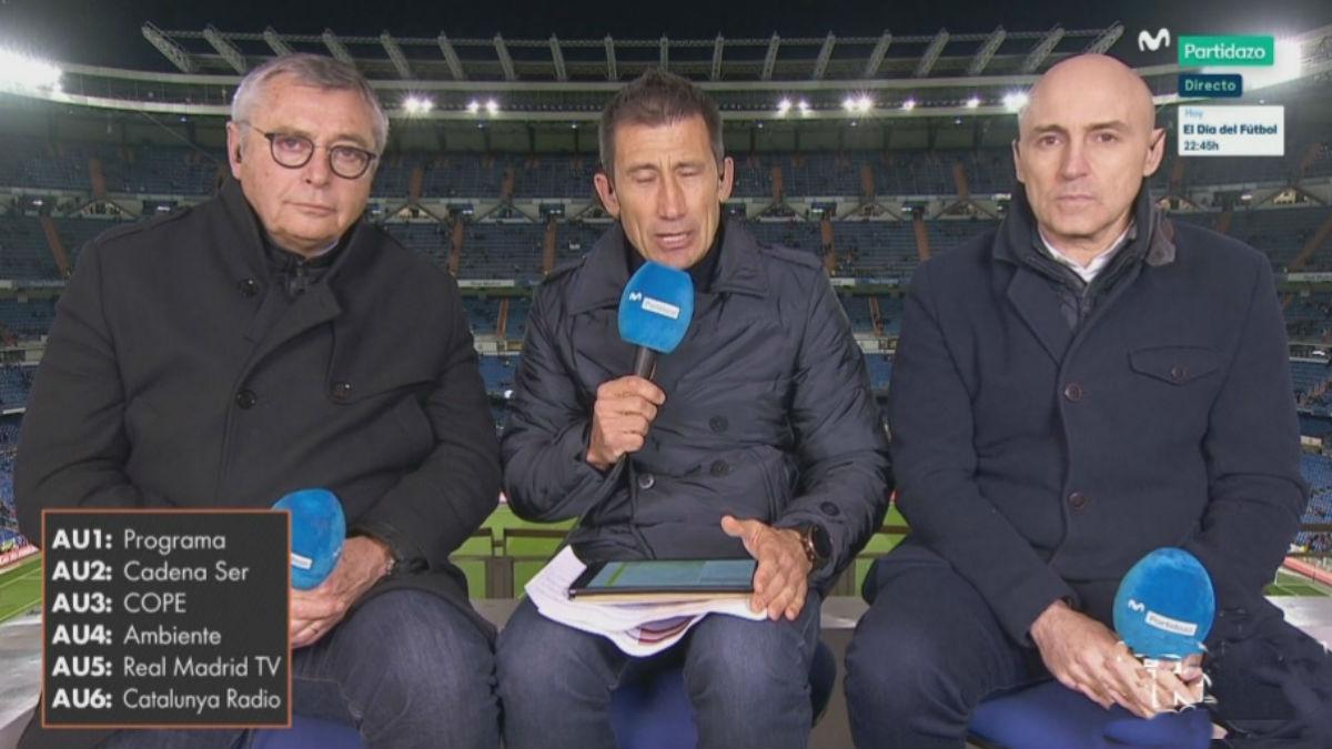 La narración de Real Madrid TV ya se puede escuchar en las retransmisiones de los partidos del Real Madrid en Movistar Partidazo