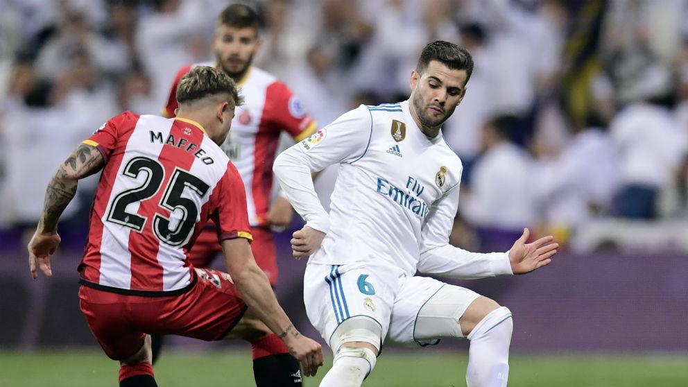 Nacho durante el Real Madrid – Girona. (AFP)