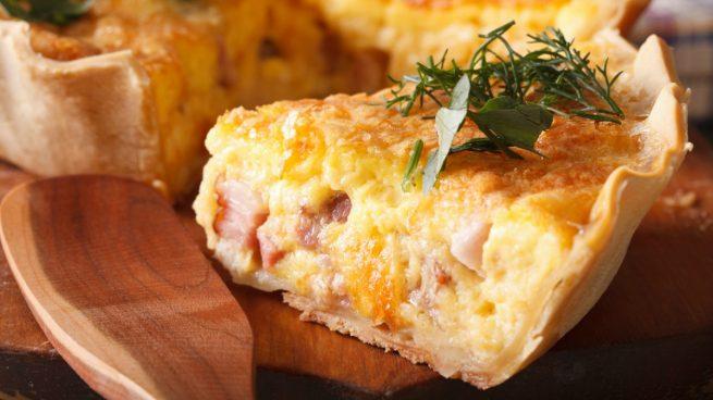quiche de jamon y queso