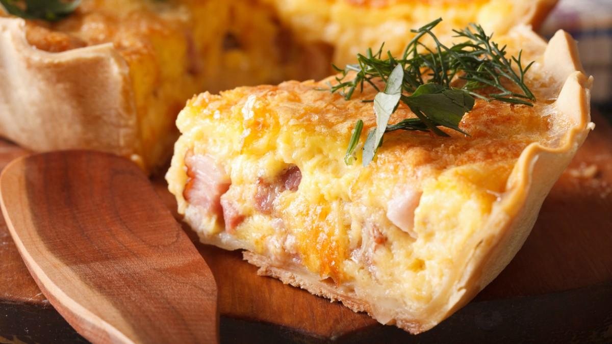 Receta de quiche de jamón y queso buenísima y fácil de preparar
