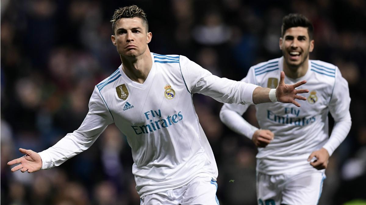 Cristiano celebra su primer gol ante el Girona. (AFP)