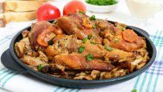 Receta de conejo en salsa de almendras paso a paso