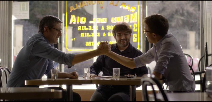 Íñigo Errejón y Eduardo Madina en  'Salvados'. (Foto. LaSexta)