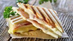 Receta de sándwich mixto de jamón y queso paso a paso