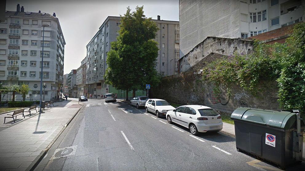 Calle Miguel de Cervantes, en Lugo, donde se produjo el suceso.