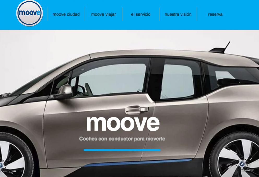 Imagen de la web de Moove Cars