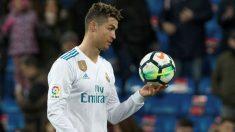 Cristiano Ronaldo marcó cuatro goles al primer toque ante el Girona. (EFE)