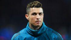Cristiano Ronaldo, en un calentamiento con el Real Madrid. (Getty)