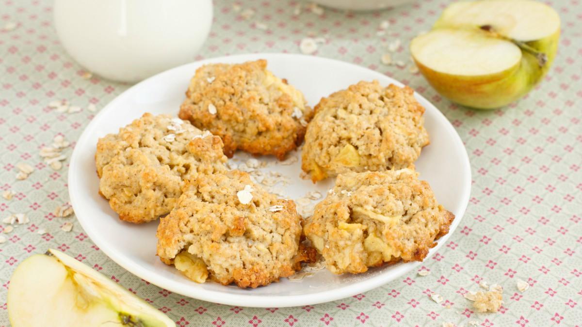 Receta de galletas fitness de manzana y avena paso a paso