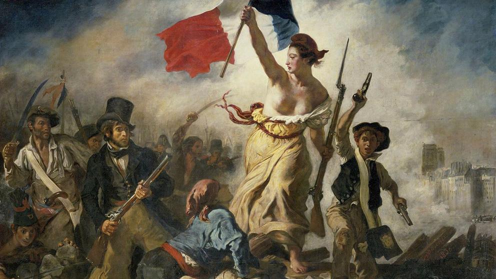 'La libertad guiando al pueblo' (Eugène Delacroix, 1830).