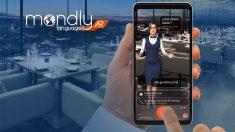 MondlyAR es la primera experiencia de realidad aumentada que utiliza el reconocimiento de voz para enseñar idiomas