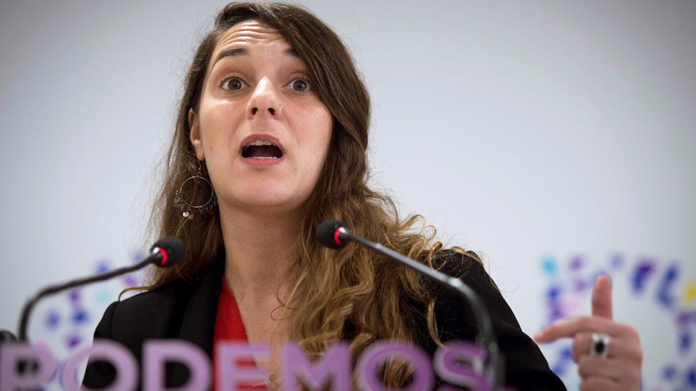 Noelia Vera, coportavoz de Podemos. (Foto: EFE)