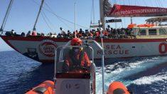 El barco de la ONG Proactiva Open Arms durante una de sus misiones de rescate.