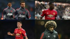 Juan Mata, Martial, Ander Herrera y Fellaini se plantean irse del Manchester United por José Mourinho.
