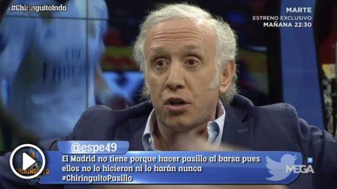 Eduardo Inda no entiende cómo Benzema puede llevar el 9 en el Real Madrid.