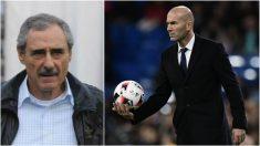 Ángel Cappa y Zinedine Zidane, en sendas fotos de archivo.