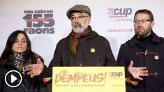 Carles Riera, diputado de la CUP (Foto: EFE)).