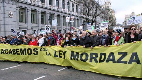 Manifestación contra la Ley Mordaza. (Foto: E. Falcón)