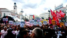 Manifestación de pensionistas en Madrid. (Foto: E. Falcón)
