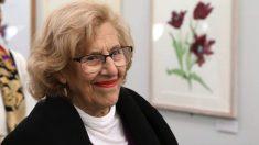Manuela Carmena, este martes inaugurando una exposición de tulipanes. (Foto. Madrid)
