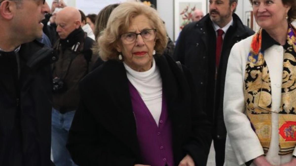 Manuela Carmena inaugurando una exposición. (Foto. Madrid)