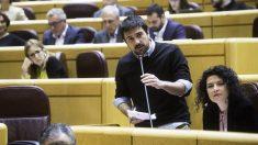 Ramón Espinar, portavoz de Unidos Podemos en el Senado. (Foto: Podemos)