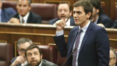 El presidente de Ciudadanos, Albert Rivera, en el Congreso de los Diputados.
