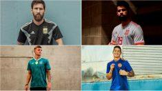 Las segundas equipaciones de las selecciones en el Mundial.