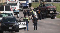 Vehículo en el que huía el sospechoso de ser el responsable de los paquetes bomba en Texas (Foto: AFP)