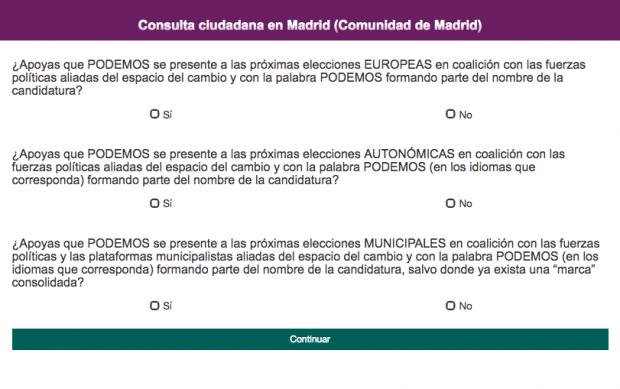 Consulta de Podemos