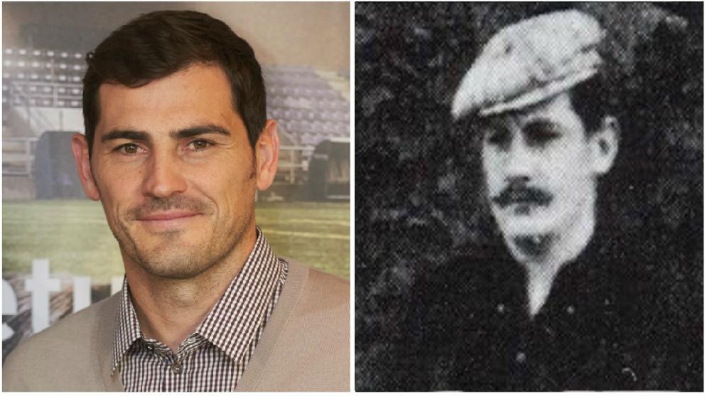Iker Casillas y su 'doble'.