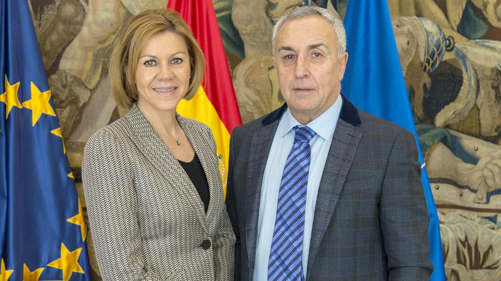 María Dolores de Cospedal y Alejandro Blanco.