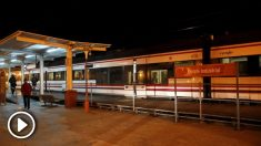 Estación de Getafe Industrial, donde se suicidó el parricida. (Foto: EFE)