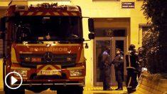 Vivienda donde tuvo lugar el asesinato de los dos niños en Getafe. (Foto: EFE)