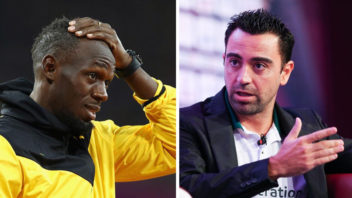 Xavi Hernández considera que Usain Bolt nunca podrá triunfar en el fútbol (Getty).