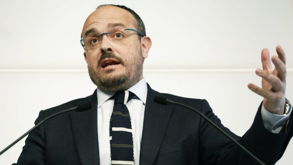 Alejandro Fernández, presidente del PP en Cataluña. (Foto: EFE)