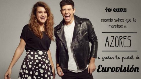 Alfred y Amaia (OT) ya están en Portugal… rodando un spot