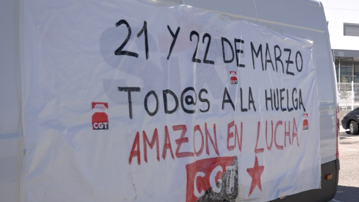 Huelga en Amazon (Foto:Juanma Yela)