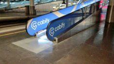 Publicidad de Cabify en Atocha (Foto: Elite Taxi).