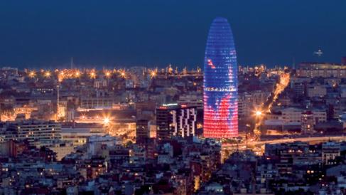 Torre Agbar, la emblemática sede de la multinacional española en Barcelona.