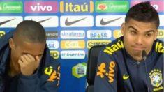 Casemiro y Douglas Costa, en rueda de prensa.