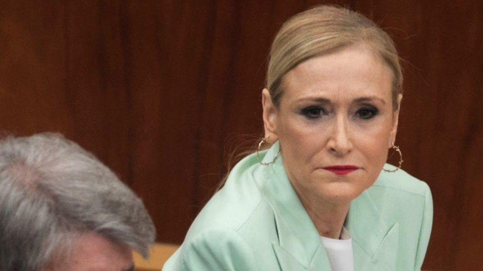 Cristina Cifuentes en la Asamblea de Madrid. (Foto. PP)
