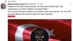 La cuenta de Miquel Iceta (PSC) hackeada por unos piratas que escriben mensajes en turco.